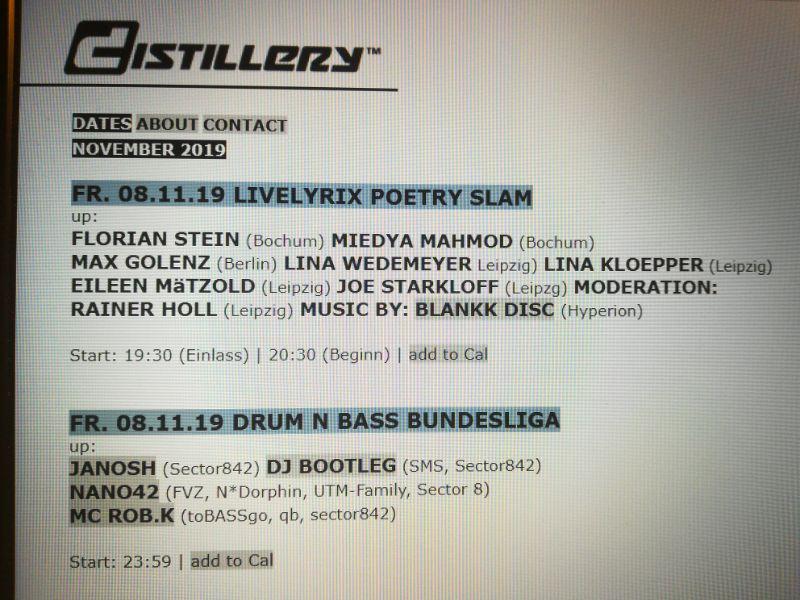 Poetry Slam in der Tille