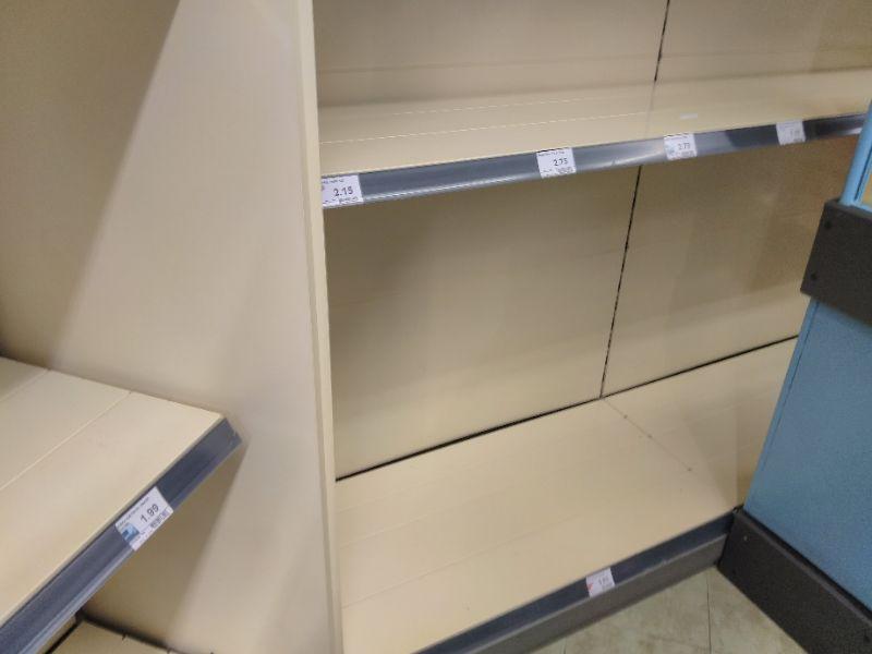 Auch in München: leere Regale