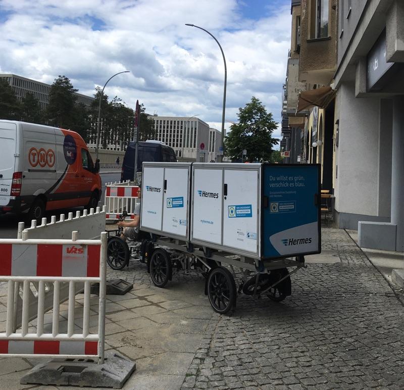 Klima neutraler Lieferdienst in Berlin-Mitte