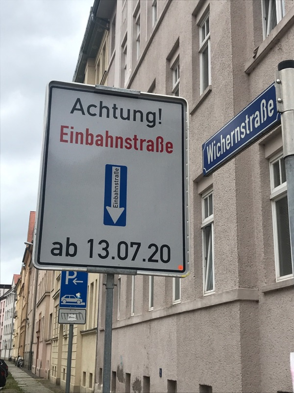 Wichernstraße wird zur Einbahnstraße