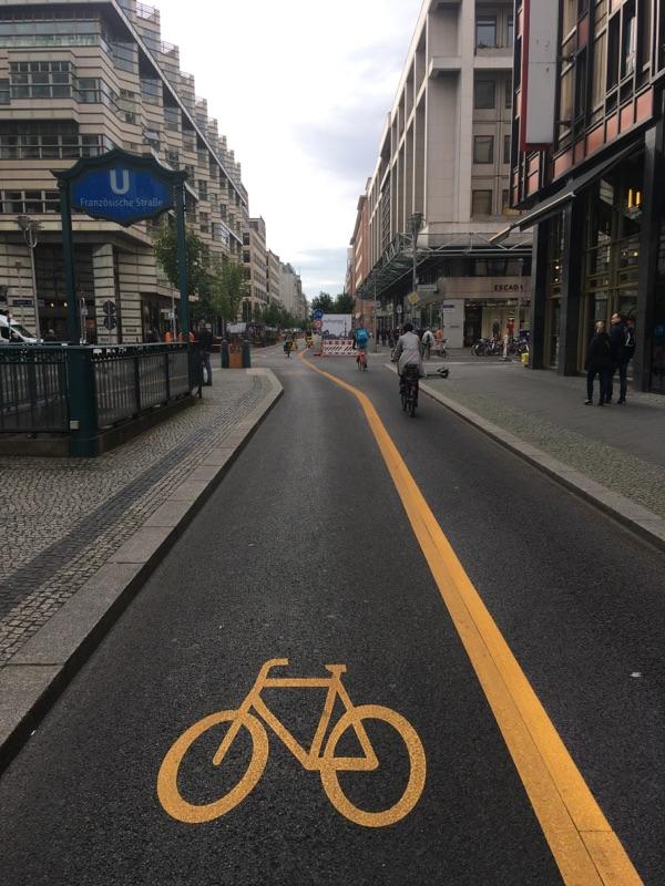 Friedrichstraße wird zur Fahrradstraße