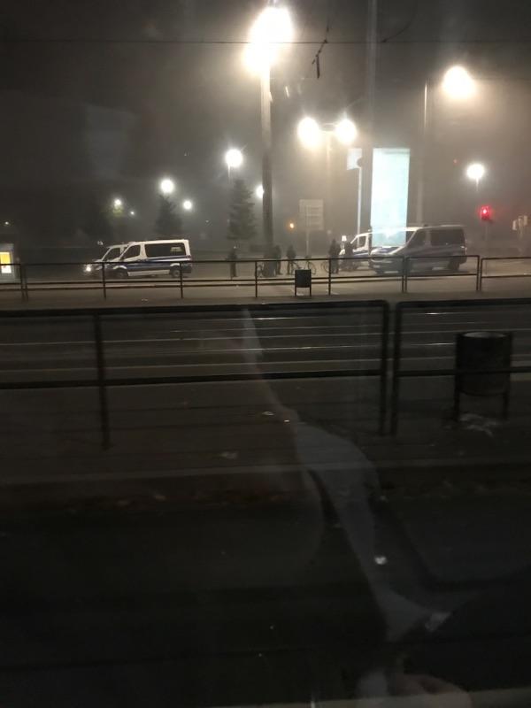 Polizeiaufgebot am Bayrischen Bahnhof