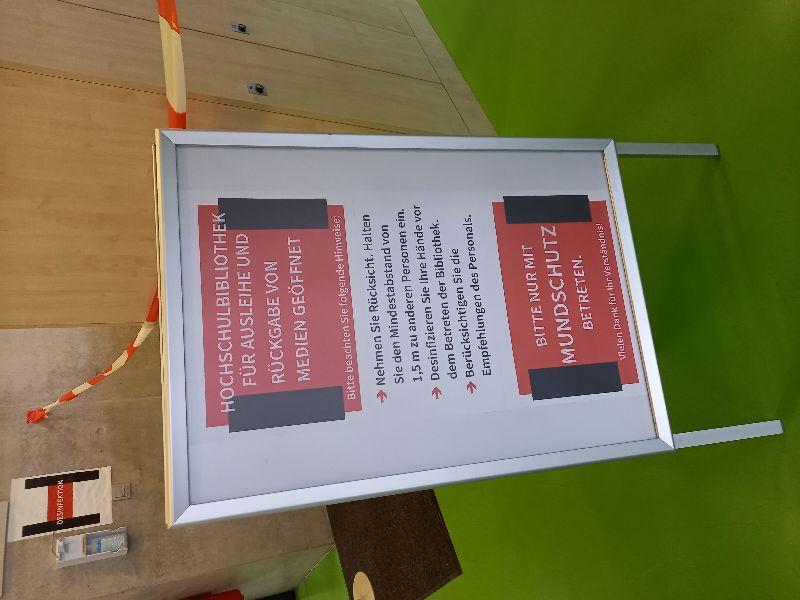 HTWK-Bibliothek ist trotz Lockdown geöffnet!