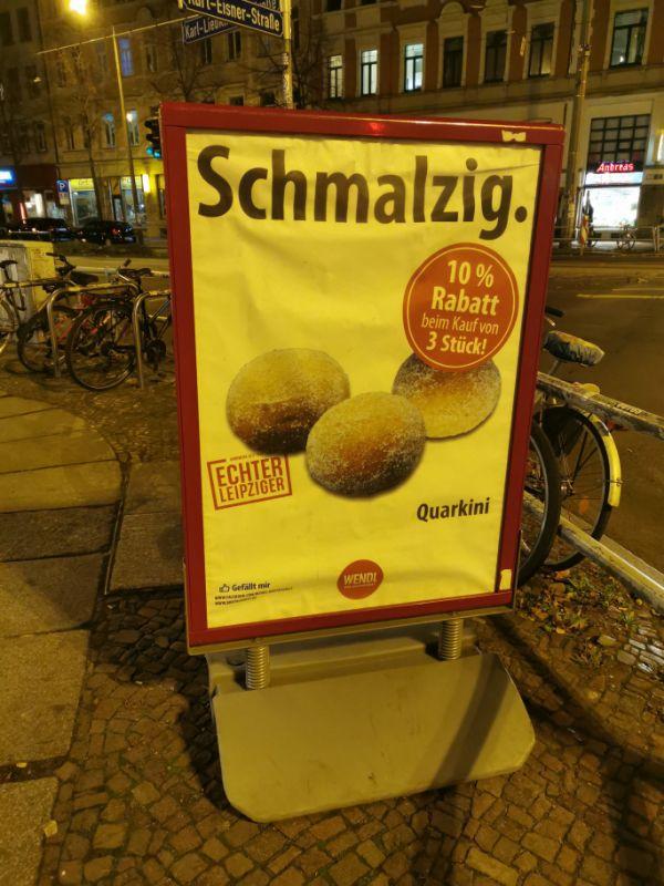 Angebot bei der Bäckerei Wendl