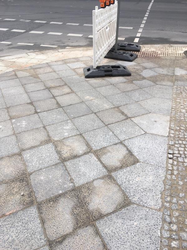 Kabelbaustelle Ecke Zinnowitzer Strasse beendet