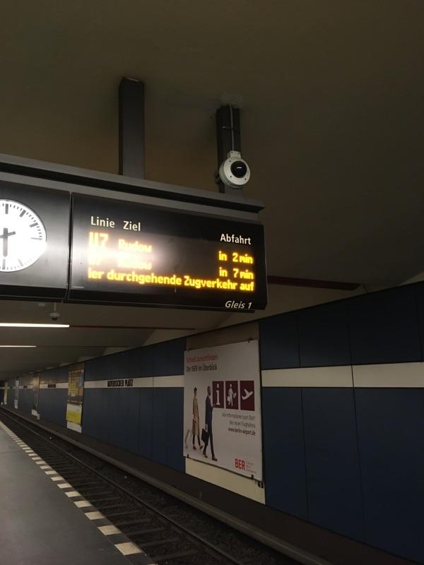 U7 nach Störung wieder pünktlich