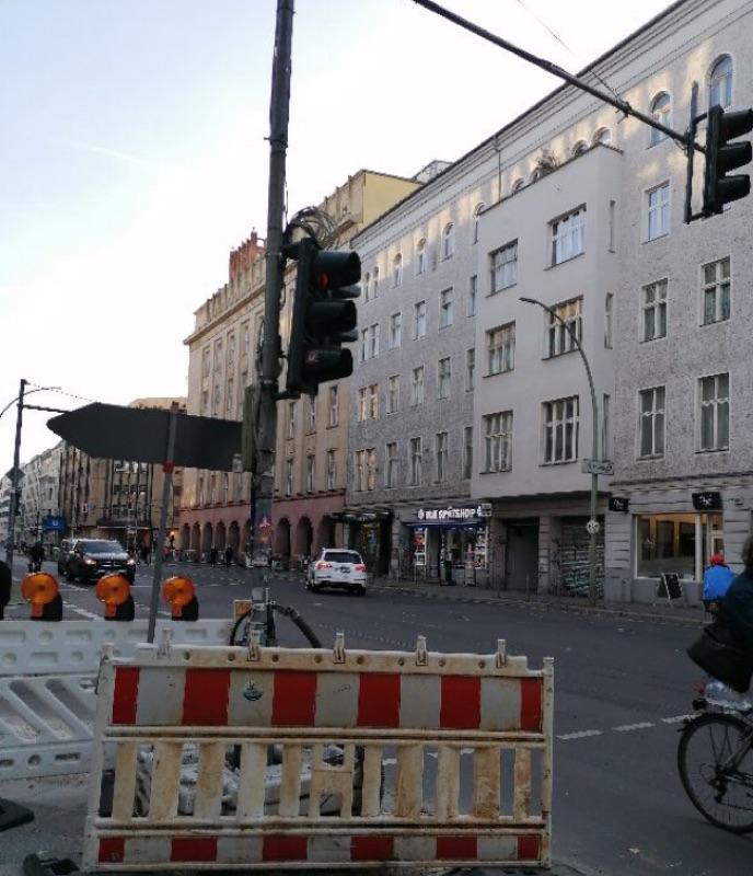 Ampel an der Chausseestraße wieder in Betrieb