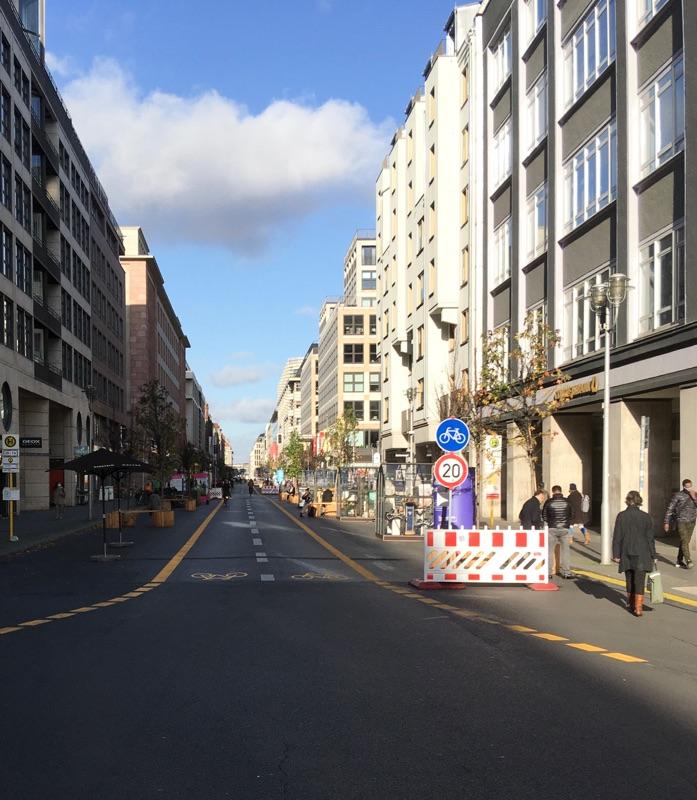 Friedrichstraße nur noch für Fußgänger und Radler