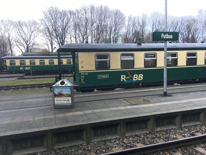 Bahnhof in Putbus menschenleer