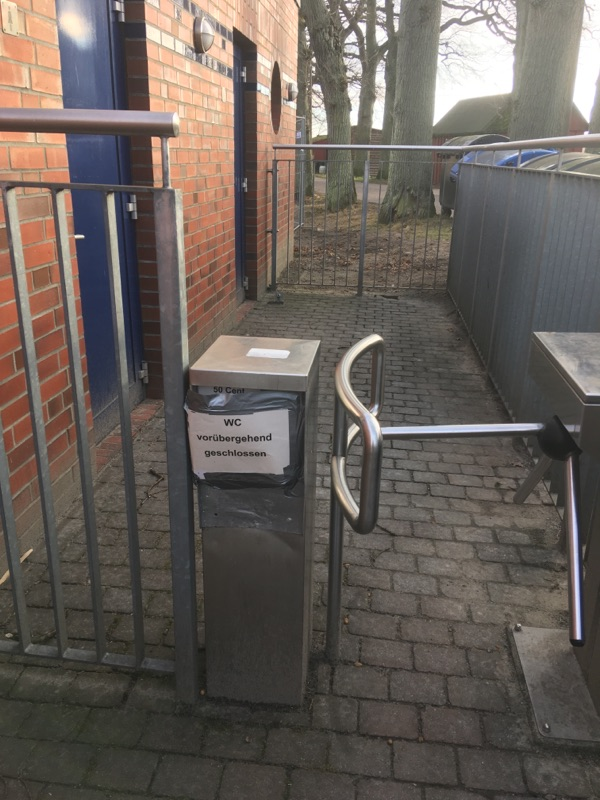 WC in Lauterbach seit März geschlossen
