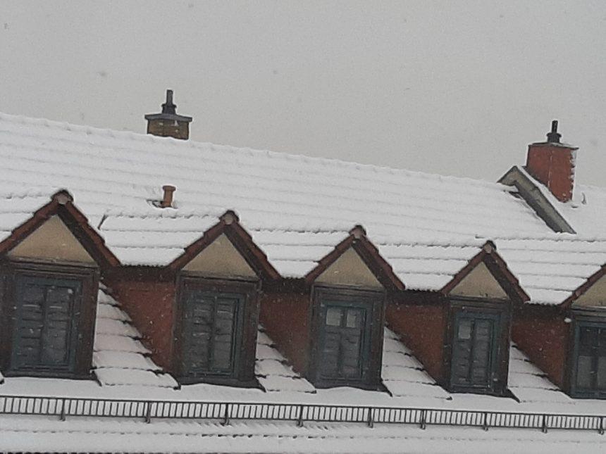 Frischer Schnee in Leipzig