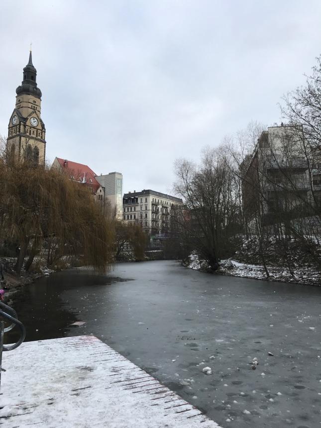 Gefrorener Karl-Heine-Kanal