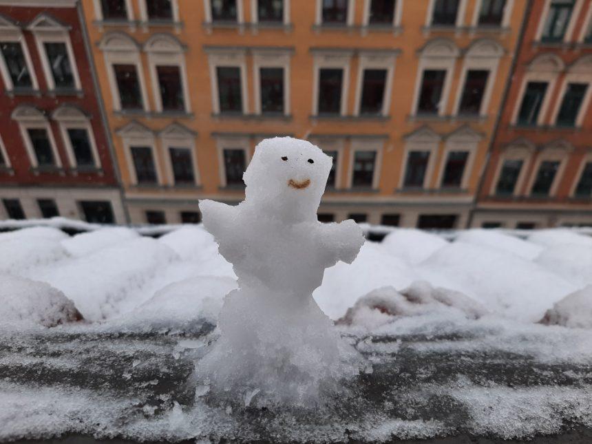 Neuer Schneemann gesichtet!
