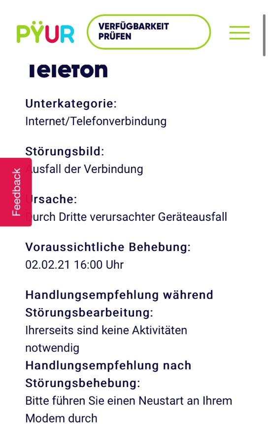 Ausfall von Internet und Telefonie in Berlin-Mitte