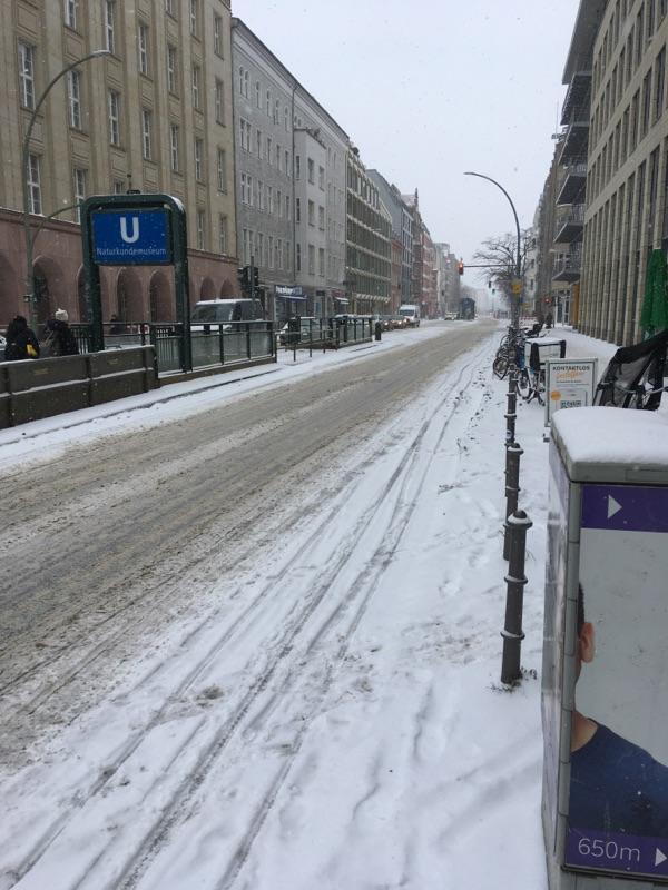 Starker Schneefall in Berlin