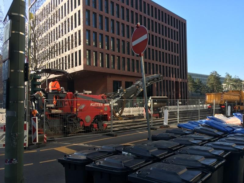 Baustelle in Mitte/Chausseestraße geht voran