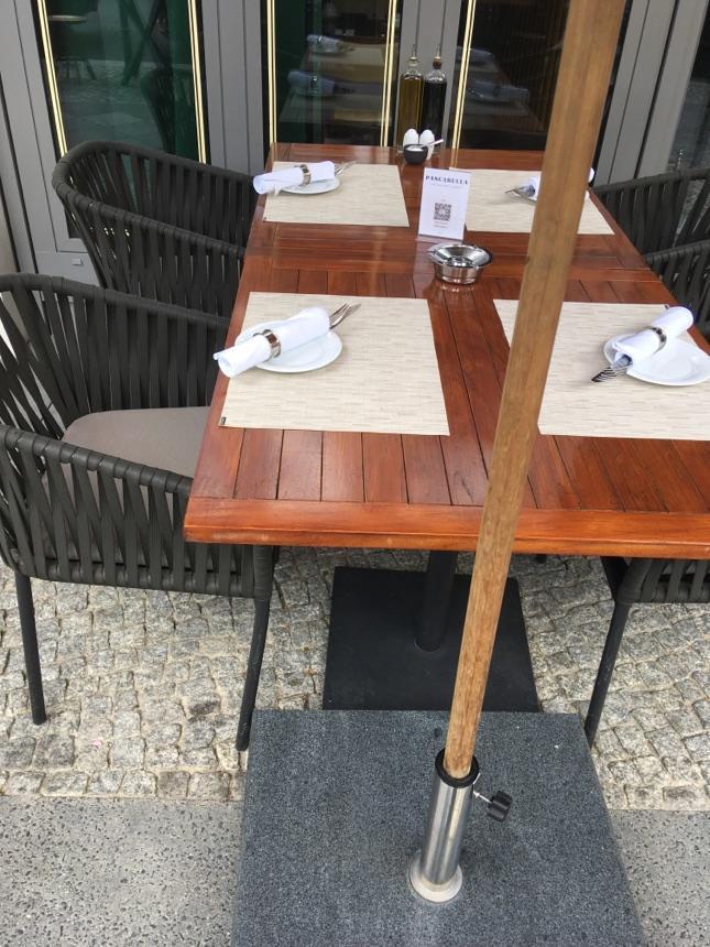 Restaurants laden wieder zum Besuch draußen ein