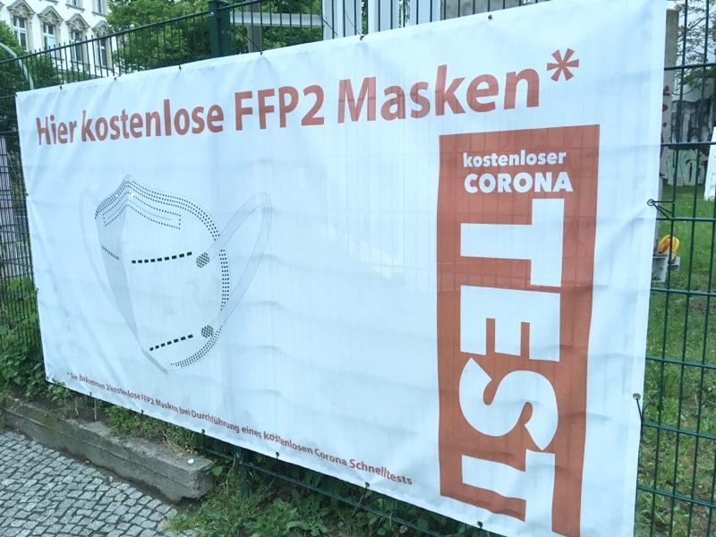Kostenlose FFP2-Masken bei Corona-Test