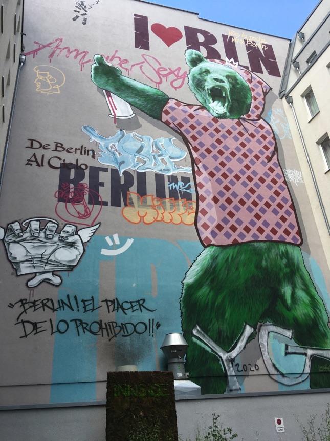 Berliner Bär als Graffiti