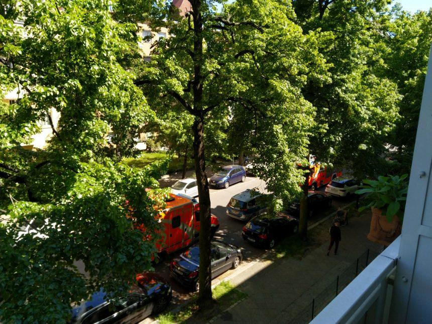 Feuerwehr- und Polizeieinsatz in der Landshuter Straße