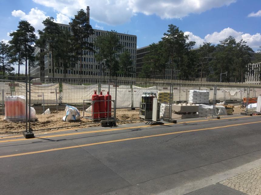 Baustelle auf der Chausseestrasse bis 2023