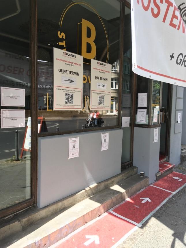 Neues Testcenter in der Chausseestrasse in Mitte