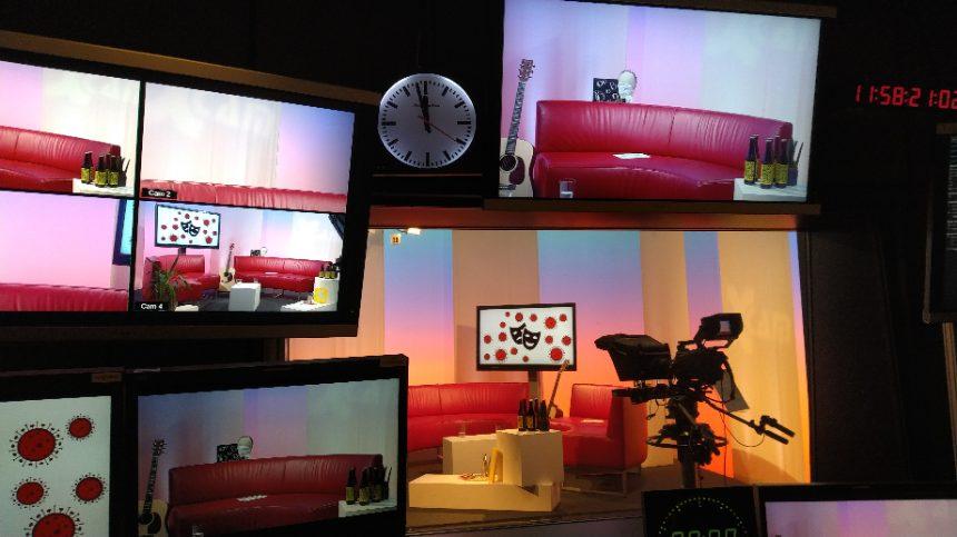 Endlich wieder im TV-Studio
