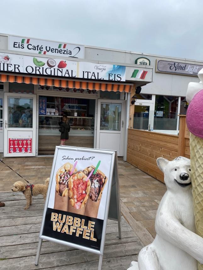 Neues Bubble-Waffle-Eis beim Weg zum Hauptbad!!