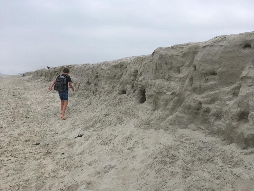 Abbruchkante des Strandes auf Langeoog