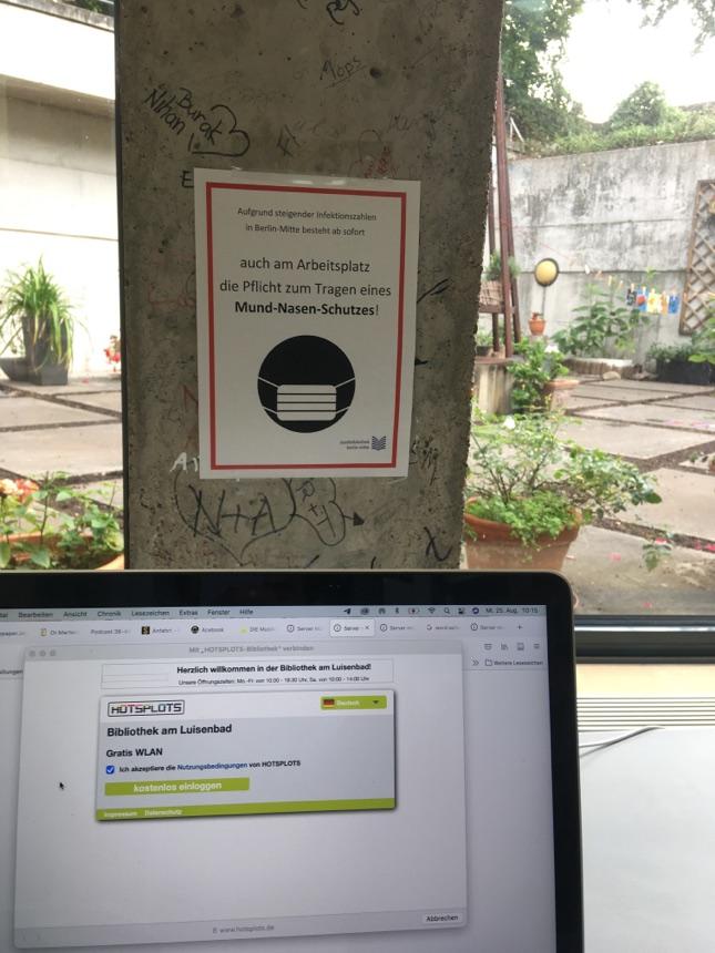 Freie Arbeitsplätze in d. Bibliothek am Luisenbad