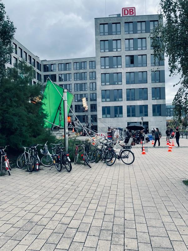 Filmaufnahmen am Nordbahnhof