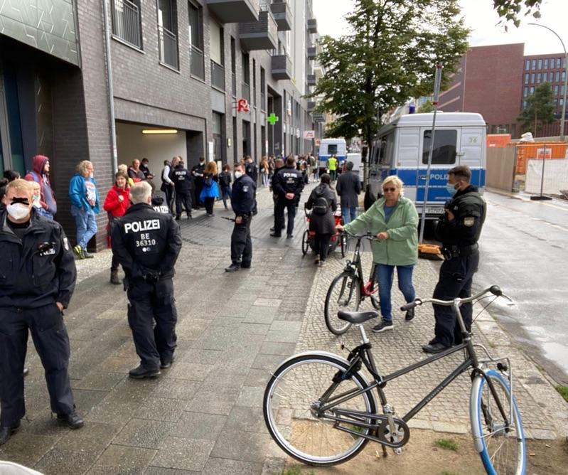 Polizeieinsatz in der Chausseestrasse