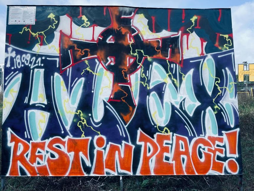 Neues Graffiti an Nordbahnhof