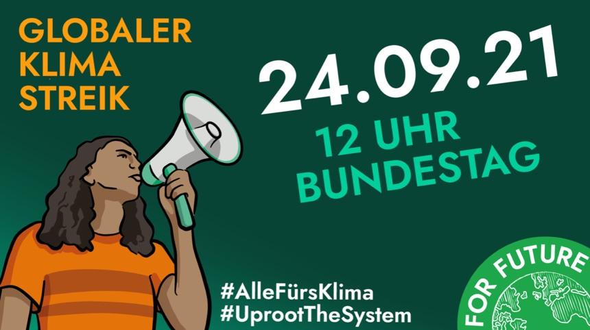 Klimademo ab 12 Uhr am Bundestag