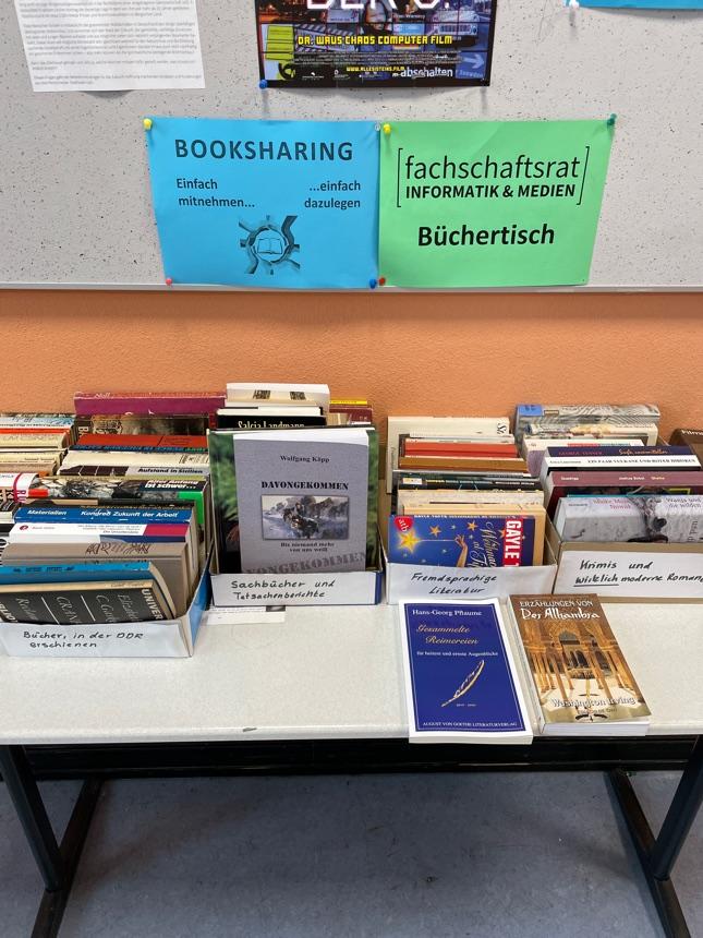 Büchertisch in der HTWK