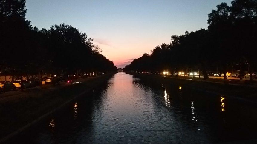 Gerner Brücke bei Nacht